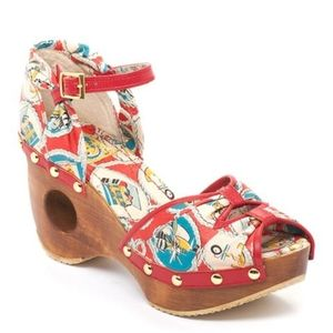 Miss L Fire Pirate Woodie Wedge Sandal
